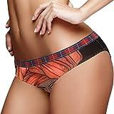 Africano donne nere con labbra lucide e turbante donne biancheria intima bikini moda signore breve mutandine multicolore XL