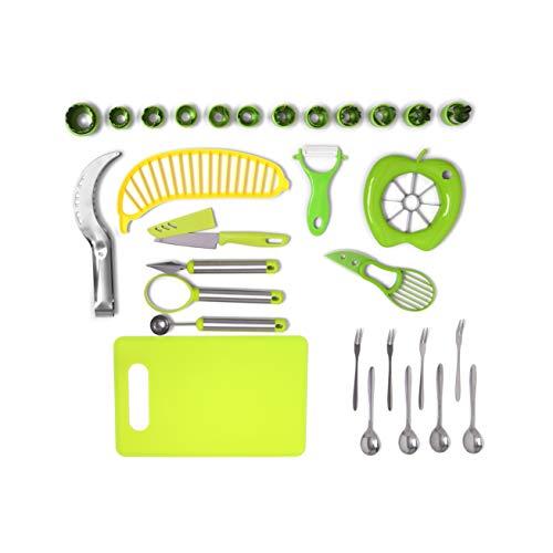 30-teiliges Gemüse / Obst Schneide Set, Ausstechformen für Kinder, Brotausstecher aber auch Avocado-, Melonen-, Apfel-,und Bananen-Schneider.