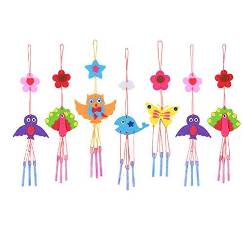 NUOBESTY 8 Stück Windspiele für Kinder zum Entwerfen Basteln und Ausstellen von kreativen Kinder