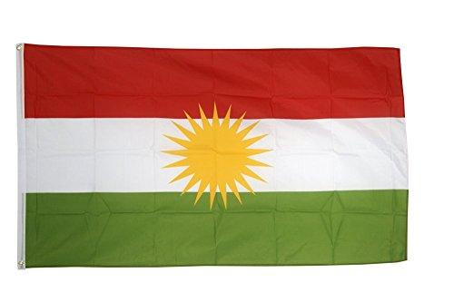 Fahne / Flagge Kurdistan + gratis Sticker, Flaggenfritze®