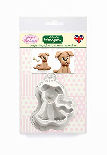 Dog Silicone Mold for Cake Decorating, Crafts, Cupcakes, Sugarcraft, Candies, Card Making and Clay, Food Safe Approved, Made in The UK, Sugar Buttons by Kathryn Sturrock