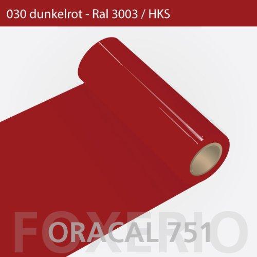 Orafol - Oracal 751 - 31cm Rolle - 10m (Laufmeter) - Dunkelrot / hochglänzend, A170oracal - 751 - 10m - 31cm - 03 - Dunkelrot - Autofolie / Möbelfolie / Küchenfolie