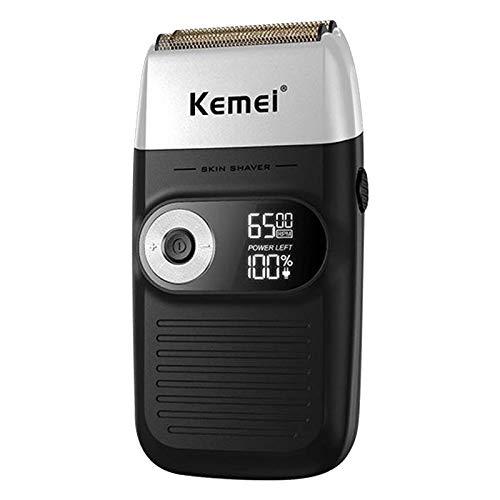 harayaa Afeitadora Eléctrica para Hombre KM-2026, Afeitadora de Barba Recargable Por USB - Rock negro