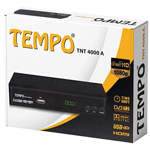 Tempo 4000 Decoder Digitale Terrestre DVB T2 / HD / HDMI / Ricevitore TV / PVR / H.265 HEVC / USB / DVB-T2