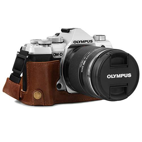 MegaGear Ever Ready MG1865 - Funda de Piel para cámara Olympus OM-D E-M5 Mark III, Color marrón