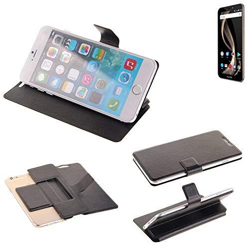 K-S-Trade® Schutz Hülle Für Allview X4 Soul Infinity Z Schutzhülle Flip Cover Handy Wallet Case Slim Handyhülle Bookstyle Schwarz