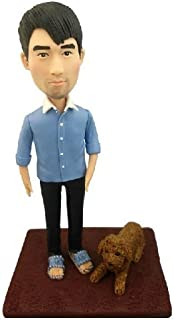 Model D12 Fully Personalized Bobble Head Clay Figurines Based on Customers' Photos