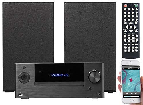 auvisio Mini Anlage DVD: Mini-HiFi-System mit DVD-/CD-/Media-Player, Bluetooth & FM, 120 Watt (Micro DVD Anlage)