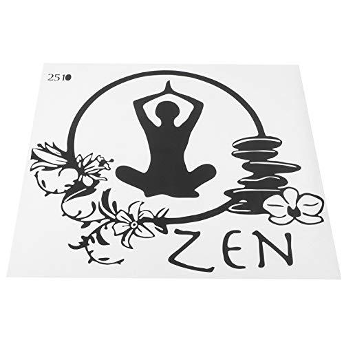 Etiqueta engomada del patrón de la yoga, etiqueta engomada de la pared del PVC de la decoración del hogar del regalo del amante de la yoga portátil para el dormitorio para la sala de estudio