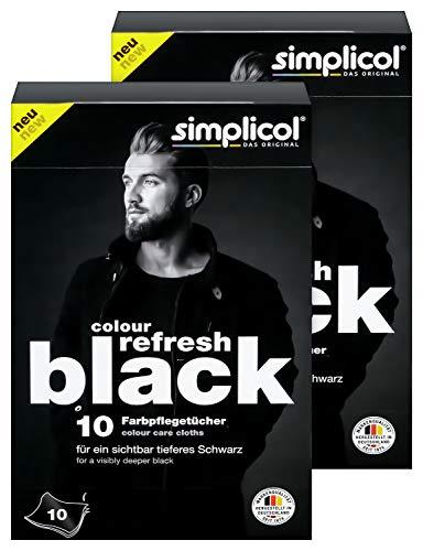 Simplicol Colour Refresh Farbpflegetücher, Schwarz, 20 Stück: Zur Auffrischung ausgeblichener Kleidung für sichtbar tieferes Schwarz