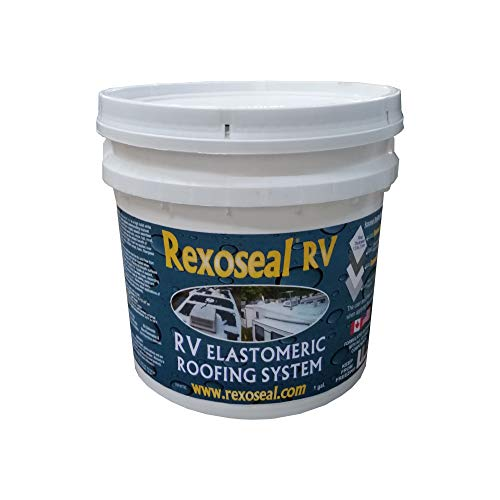 Rexoseal RV Liquid Rubber Roofing System - Waterproofing and Protective RV Roof Coating Sealant - White, 1 Gallon