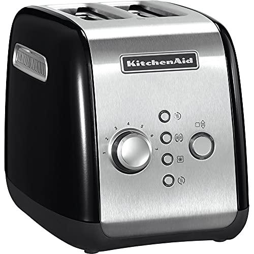 Kitchenaid 5KMT221EOB - Tostadora, color negro y plateado