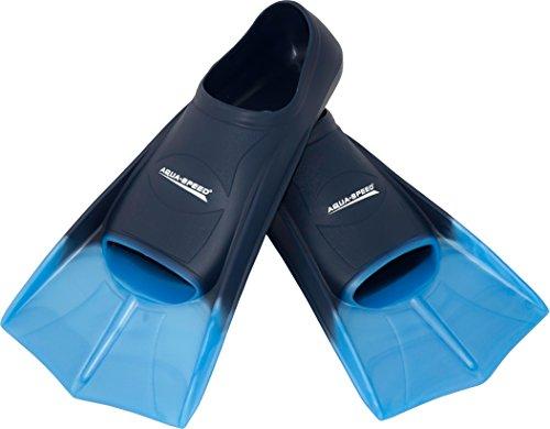 Aqua-Speed® HIGH TECH Kurze Trainingsflossen | Schwimmflossen | Schwimmtraining | Kurzflossen | Taucherflossen | Größen 33-48, Modell:blau/hellblau/02, Größen:31/32