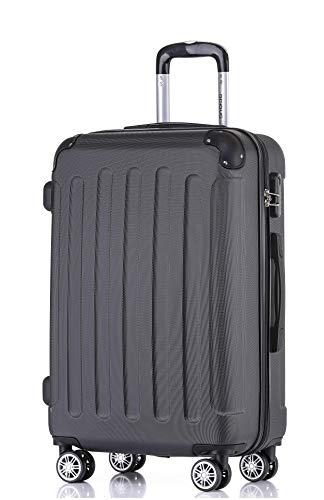 BEIBYE 2045 Hartschale Koffer Kofferset Trolley Reisekoffer Größe XL-L-M in 12 Farben (Schwarz, XL)