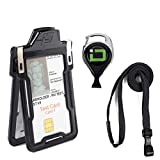 Secure Badgeholder Classic 1 Card ID Badge Holder with Lanyard and Retractable Reel - RFID Blocking Badge Holder Made in The USA
