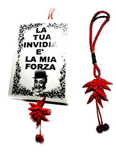 TARGA  corno rosso toto/' portafortuna napoli corni gobbo amuleti  horn charms