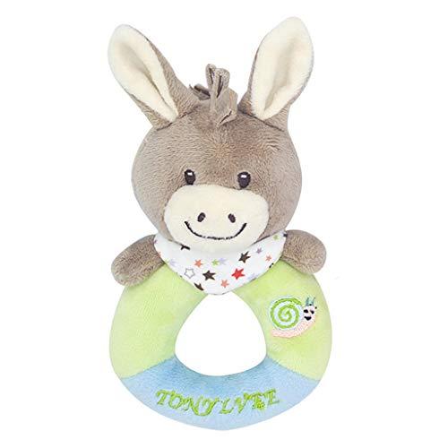 Dapei Plüschtier Greifling mit Rassel Kuscheltier Alpaka Plüschrassel Baby- & Kleinkindspielzeug Stofftier Überraschungsgeschenk für Paare/Kinder/Familie am Valentinstag