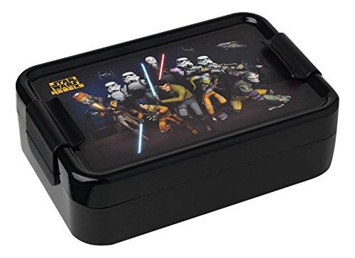 Star Wars - Caja para el Almuerzo Rebels, de plástico, en Color Negro, Ref. 30500050