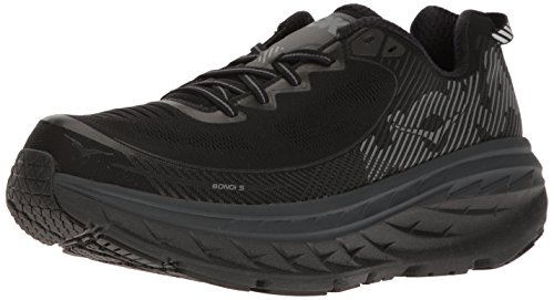 Hoka One One Mens Bondi 5 Running Shoe,  Cool Gray / Midnight Navy - 11 D(M) US