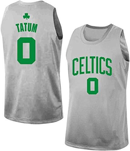 Jersey NBA Jersey -Boston Celtics 0# Jayson Tatum Hombres, Fresco sin Mangas clásico Tejido Transpirable Deporte Jersey del Baloncesto del Chaleco,L(175~180cm/75~85kg)