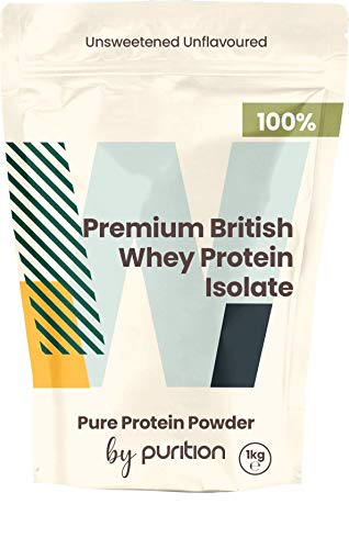 Natural Premium British Whey Protein Powder by Purition UK Origin, Gluten Free, Pre & Post Workout 1KG