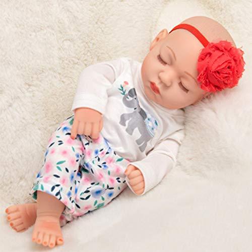 FR&RF 25Cm Reborn Bathe Doll 10.6 Pulgadas de Cuerpo Completo Silicona Simulación Baby Dolls Juguetes para bebés recién Nacidos para niñas Playmate Niño Cumpleaños, 5,Closed Eye Doll