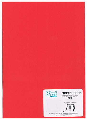 West carnet à dessin plastifié a3 rouge