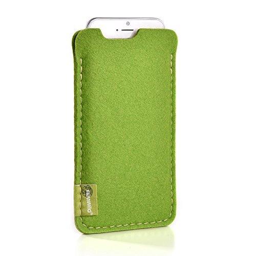 ALMWILD® Hülle, Tasche für Apple iPhone 8, 7, 6s, 6. Aus Filz, in Mai- Grün. Handyhülle aus Filz in Bayern handgefertigt!