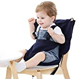 Easy Seat Portable Travel High Chair Safety Washable Cloth Harness for Infant...