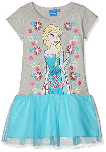 Disney La Reine Des Neiges 5712 Vestido, Gris (Gris Gris), 6 años para Niñas