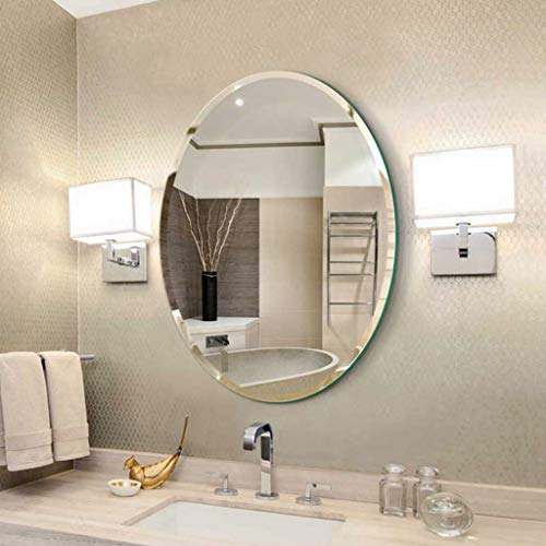 YF-Mirror 45x60cm, 50x70cm, 60x80cm Espejo de Pared sin Marco, Biselado, Pulido y Biselado para baño, tocador, Sala de Estar, cuelga Horizontal o Vertical