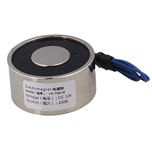 BQLZR Metall 55LB 25kg Elektrohubmagnet Halten Elektromagnet 12V DC 250N
