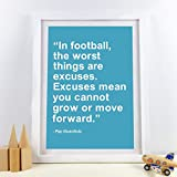 WADPJ PEP Guardiola Fußball Zitat Wandkunst Drucke Jungen