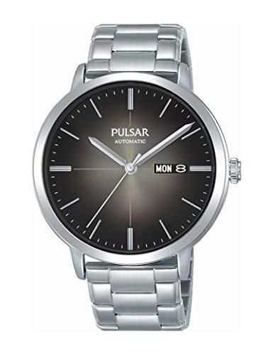 Pulsar - Reloj de acero para hombre, color plateado