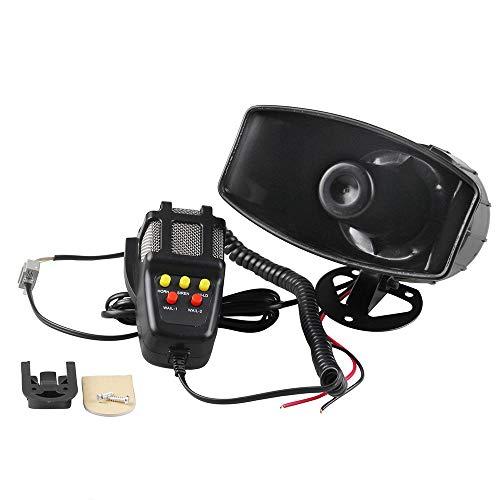 Auto Sirene Lautsprecher, megafon hupe Sirene Alarm 12 V 60 W 5 Tone Sound Auto Elektronische Warnung Auto Sirene Fahrzeug Horn mit Mikrofon Lautsprecher Police Fire Alarm PA Speaker