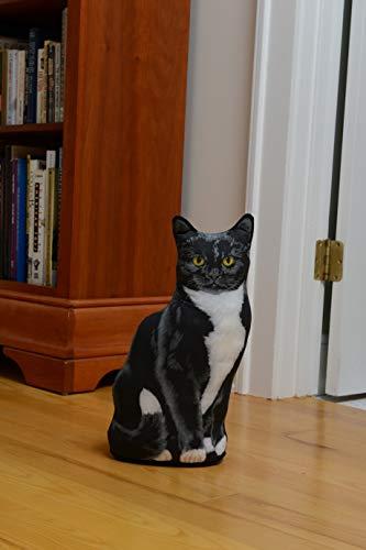 Fiddler's Elbow Tuxedo Cat Door Stop, Decorative Door Stopper, Interior, Cat Doorstop, Tuxedo Cat Statue