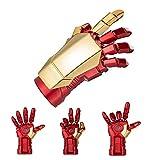 YHK Iron Man U Disk 128G,Portable Marvel USB Flash Drive,Iron Man 128G USB Stick Waterproof (Finger)