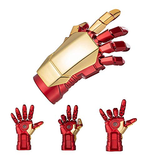 YHK Iron Man U Disk 128G, tragbarer Marvel USB Flash Drive, wasserdichter Iron Man 128G USB Stick (Finger)