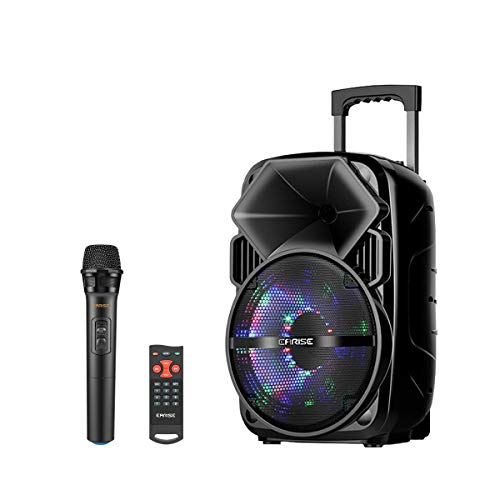 Bluetooth PA Speaker System with Wireless Microphone | 16 Inch Highet Portable Outdoor Karaoke Machine | Fun Wireless Speaker for Party | EARISE V30