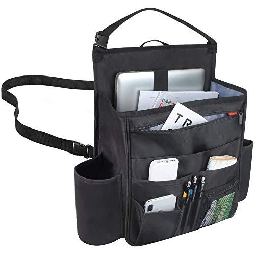 Luxja Auto Rücksitz Organizer, Autositz Organizer, Auto Aufbewahrung Rücksitz, Vordersitz Organizer mit Laptop und Tabletten-Lagerung, schwarz