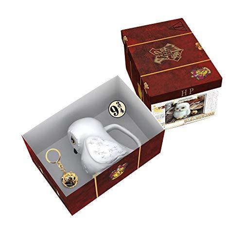 ABYstyle - Harry Potter - Coffret Cadeau Premium - Mug 3D + Porte-clés 3D + Pin's - Valise d'Harry