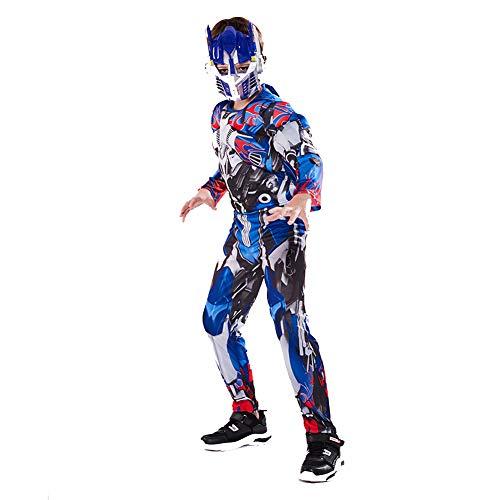 YXRL Kinder Optimus Prime Cosplay Muskel Kostüme Kinder Overall Halloween Anime Super Hero Rollenspiel Anzug M