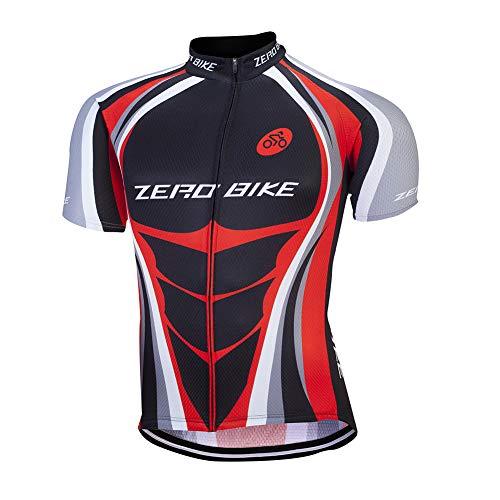 Hommes Vélo Cyclisme Respirant à séchage Rapide Maillots, Jersey Cycle Manches Courtes Veste