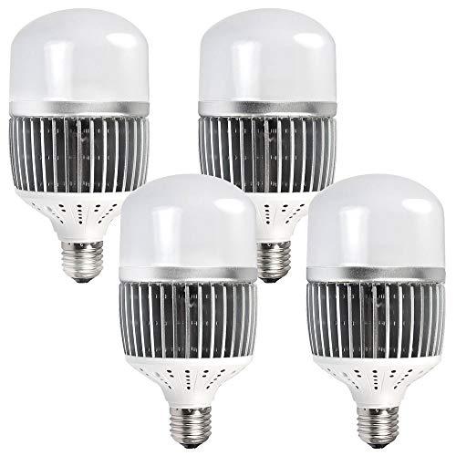 MENGS 4-er Pack CL-Q50W Hohen Lumen E40 LED Globus Lampe 50W LED Licht Ersatz für 400W Halogenlampen Neutralweiß 6500LM AC 85-265V