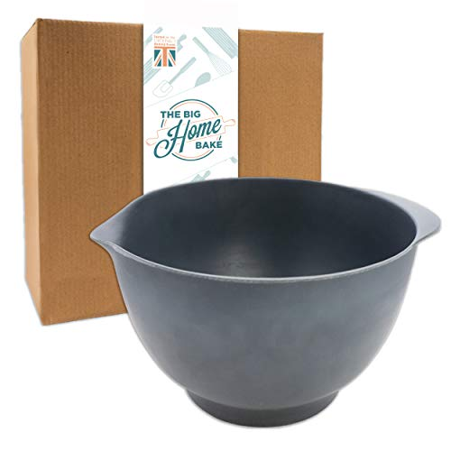 Slate Grey 3L Mixing Bowl for Baking - Eco-Friendly - Tested at UK's #1 Baking Event - Durable, Dishwasher Safe Baking Bowl. Perfect Kitchen Bowl for Baking, Mixing or Salad Prep