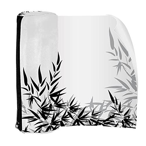 Estuche de lápiz de bambú hojas bolsa bolsa de la pluma bolsa de la cremallera para papelería viajes escuela estudiante suministros