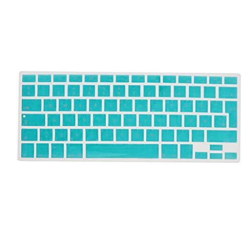 Shiwaki Dänische Phonetische Tastatur Schutzhülle, Kabellose Tastatur Schutzhülle Für 13,3 Zoll 15pro MacBook - weiß Blau