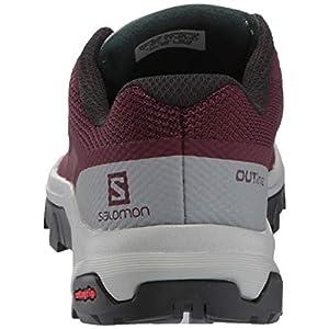 Salomon Women's OUTline W Hiking Shoe, Winetasting/Quarry/Green Gables, 7.5