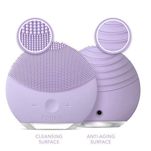 FOREO LUNA mini 2 Facial Cleansing Brush and Portable Skin Care device made with Ultra Hygienic Soft Silicone for Every Skin Type USB Rechargeable Lavender Plus 5
