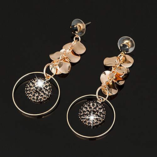 FGFDHJ Diseño Dangle Earring Element Pendientes de Cristal Pendientes de Boda Mujeres